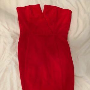 Strapless Naven Red Strapless Dress